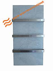 Керамический полотенцесушитель Flyme 600T с тремя ручками (цвет серый мрамор)