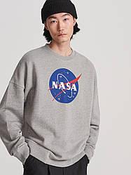 Свитшот серый NASA • кофта наса