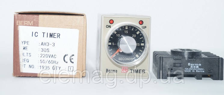 30 секунд Реле времени AH3-3 AC 220V