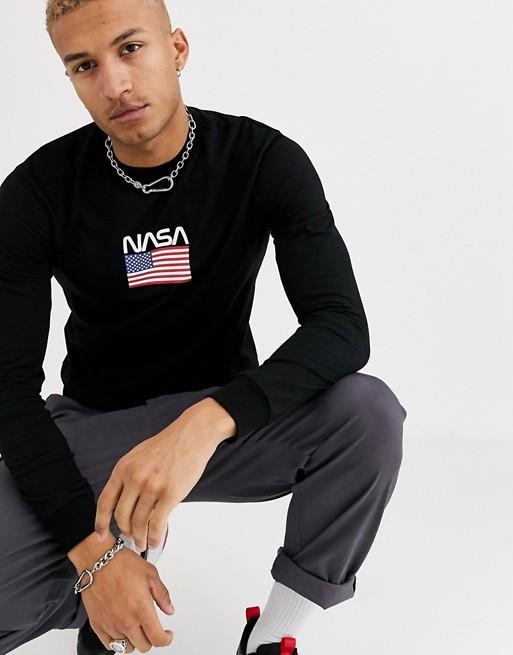Свитшот чёрный NASA USA • кофта наса