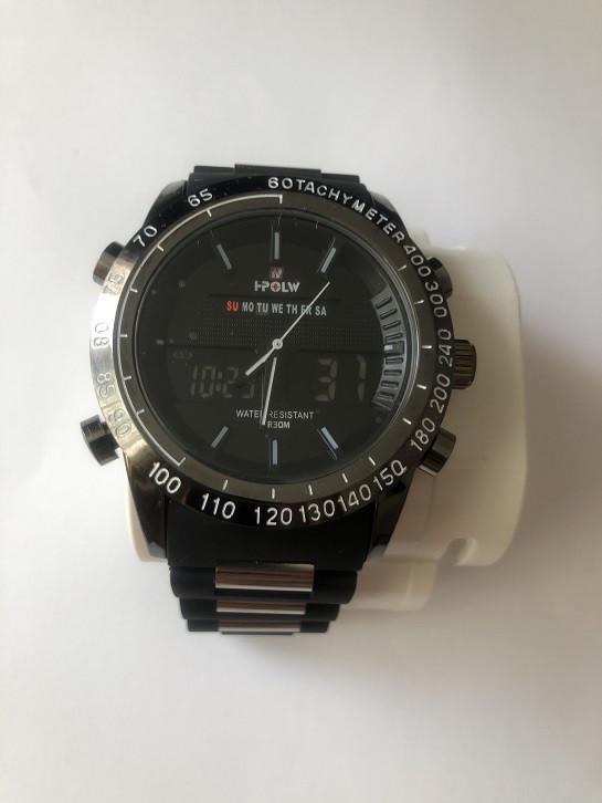 Часы наручные спортивные HPOLW FSK-1519 Black
