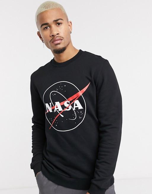 Свитшот чёрный NASA Big logo • кофта наса