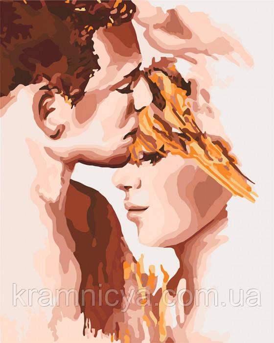 Картина по номерам КНО4678 ко дню св. Валенина (14 февраля) девушке, парню