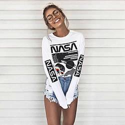 Свитшот белый NASA girl • кофта наса