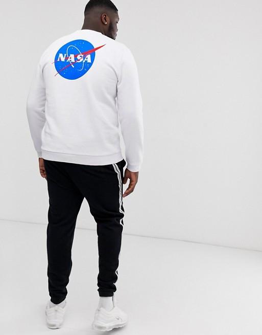 Свитшот белый NASA back • кофта наса