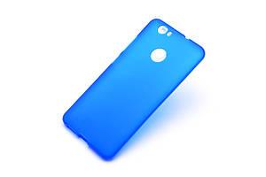 Cиликоновый чехол для Huawei Nova синий