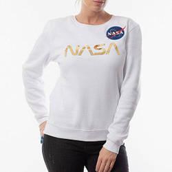 Свитшот белый NASA gold • кофта наса