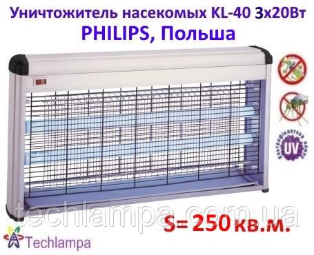 Уничтожитель насекомых KL-40 3х18W Philips, Польша