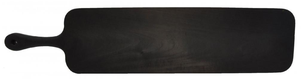 Доска для подачи из цельного дерева - 42 х 12 см, обжиг (Mix Posud) Black