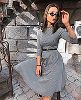 Женское трикотажное платье серый 42-44 46-48