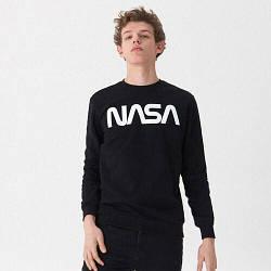 Свитшот чёрный NASA• кофта наса