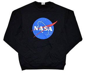 Свитшот чёрный NASA logo • кофта наса