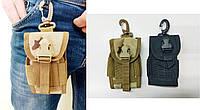 Тактический EDC подсумок для телефона/ключей. Цвета:чёрный, мультикам, фото 1