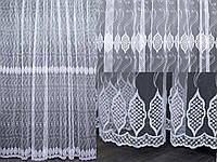 Тюль фатин с вышивкой, цвет белый . Код 288т ТУ (1,6х2,8), фото 1