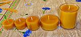 Круглая прозрачная восковая чайная свеча 30г для аромаламп и лампадок; натуральный пчелиный воск, фото 5