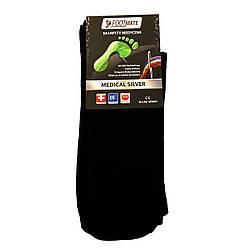 Диабетические носки с серебром FootMate Medical Silver, черные