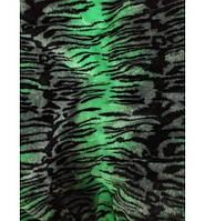 """Чехлы универсальные зеленый """"Тигр"""" (искусственный мех) полный комплект"""