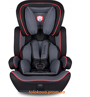 Дитяче автокрсіло для дівчини LIONELO LEVI PLUS 9-36 кг Чорне з червоним