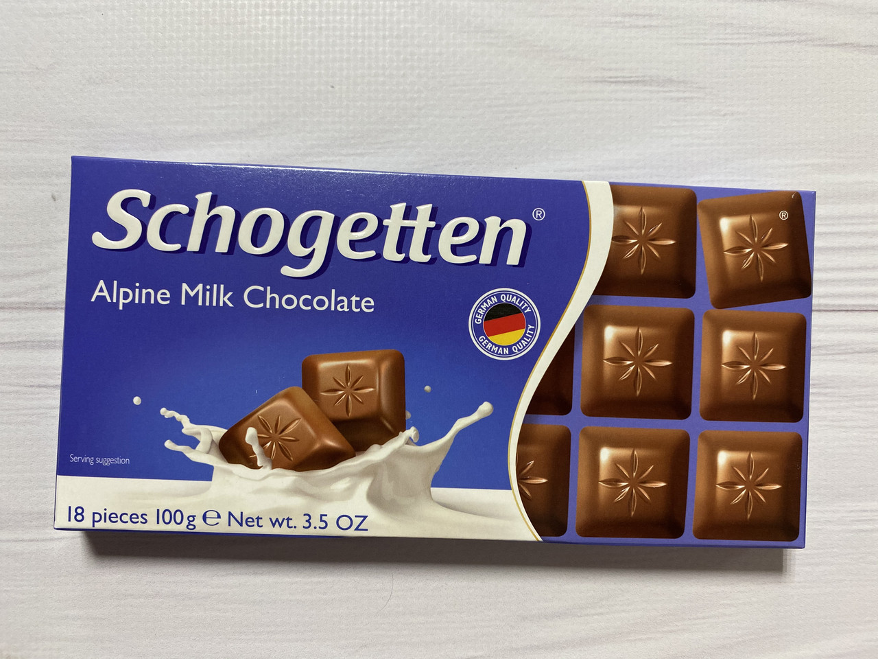 Шоколад шогетен молочный (schogetten) 100г