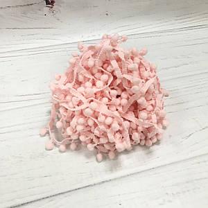Тесьма с помпонами розовая 7 мм