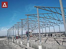 Ангар Двускат 24х54 навес, фермы, цех, здание, помещение, склад, сто