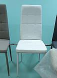 Мягкий стул N-66-2 белый кожзам Vetro Mebel (бесплатная доставка), фото 3
