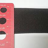 Резинка для одежды, темно-коричневая, гладкая, упругая , 40 мм, фото 2