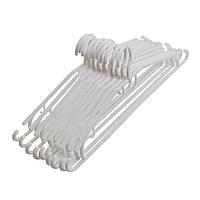 Вешалки плечики пластмассовые прочные белые Украина, 40см