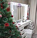 Стол для визажиста, гримерный столик, зеркало с подсветкой, белый, фото 2