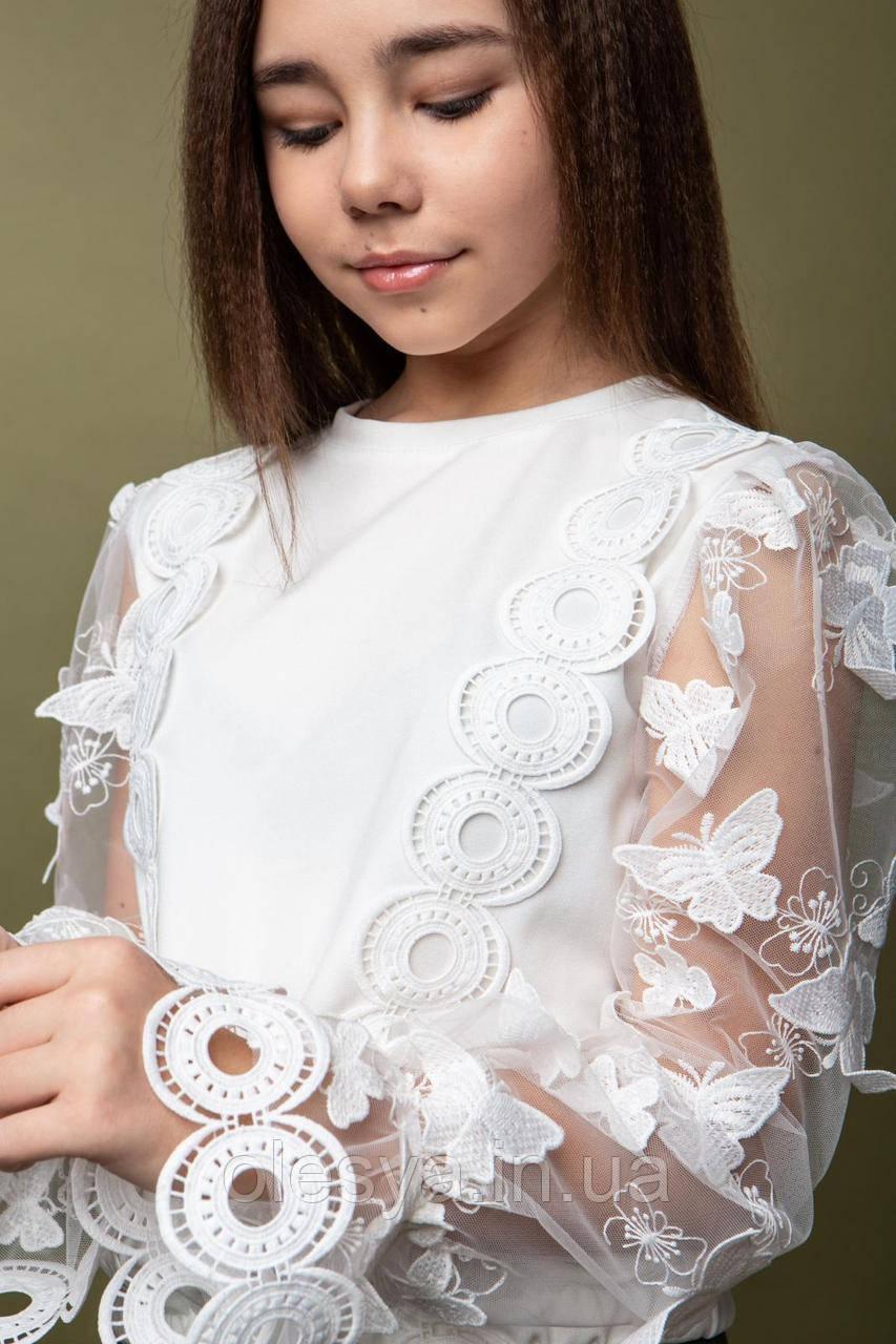 Блуза модная для девочек Milena ТМ Madlen Размеры 134-158