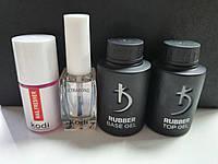 Топ и база Kodi (Kodi Rubber Base Gel 35 мл + Kodi Rubber Top Gel 35 мл) + Ultrabond Kodi + Nailfresher Kodi
