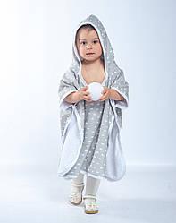 Пончо-полотенце Twins grey до 2-х лет