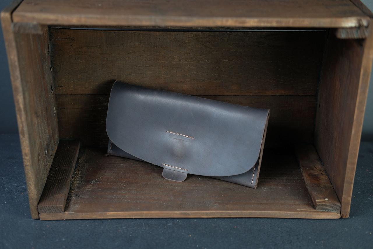 Женский кожаный кошелек Батерфляй 2 Винтажная кожа цвет Шоколад