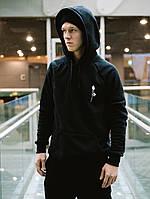Спортивный костюм мужской зимний теплый черный качественный Skull&Rose, фото 1