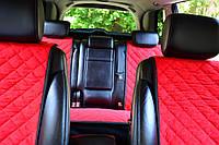 Накидки на сиденья красные (перед+зад)
