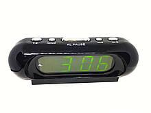 Часы в сеть VST 716-2 зеленые опт