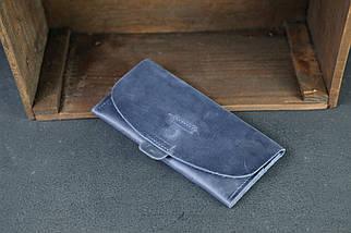 Гаманець Батерфляй 2 Вінтажна шкіра колір синій, фото 2