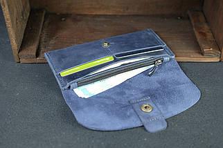 Гаманець Батерфляй 2 Вінтажна шкіра колір синій, фото 3