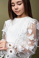 Блуза модная праздничная для девочек Баттерфляй ТМ Madlen Размеры 134-158