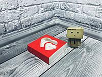 *50 шт* / Коробка для пряников / 120х120х30 мм / печать-Красн / окно-2 Сердц / лк