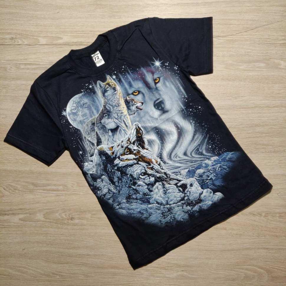 Детская футболка  36-44 светится  Волк  601539