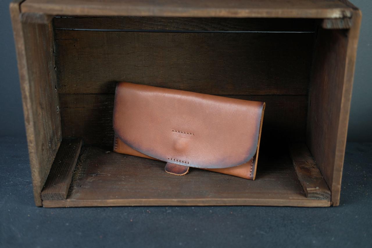 Женский кожаный кошелек Батерфляй 2 кожа Итальянский Краст цвет коричневый