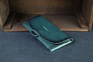 Гаманець Батерфляй 2 Шкіра Італійський краст колір Зелений, фото 2