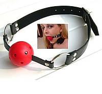 Кляп с шарикам для ролевых игр БДСМ секс игрушки наручники BDSM одежда для секса и ролевых игр пленка кнут sex