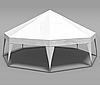 Шатер Пирамида на 50 человек - белый