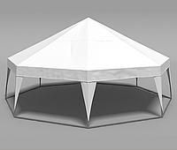 Шатер Пирамида на 50 человек - белый, фото 1