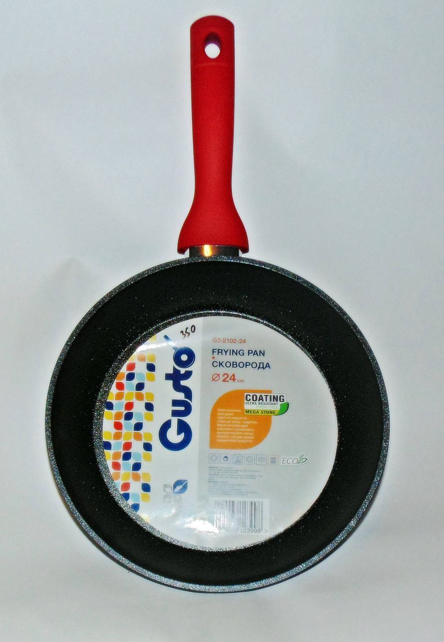 Сковорода Gusto с покрытием MegaStone 24см