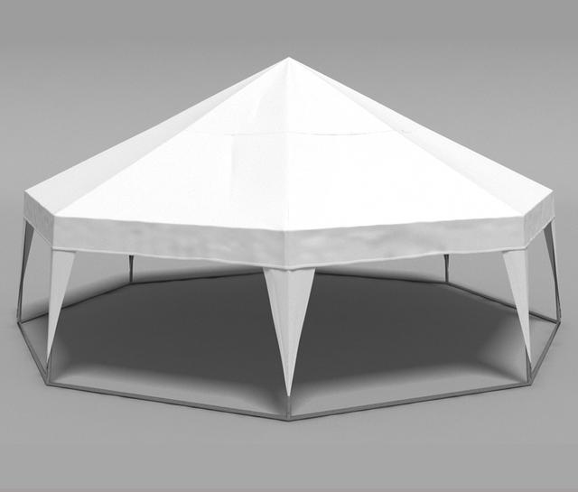 Шатер пирамида - белый
