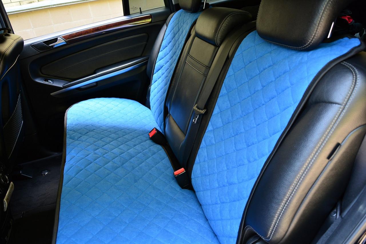 Накидки на сиденья голубые (задние сиденья)