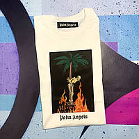 Футболка белая Palm Angels Graphic Print • Палм Анджелс футболка